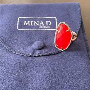 Mina D Jewelery Red Agate Ring